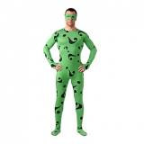 Костюмы - Зентай Green Question Mark Pattern Lycra Unisex Zentai