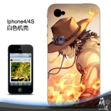 Чехлы iPhone One Piece Portgas D Ace  Кейс для   iPhone 4 / 4s / 5