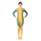 Костюмы - Зентай Yellow & Green Rogue Spandex Superhero halloween Costumes for women