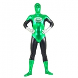 Костюмы - Зентай Green and Black Mixed Color Shiny Metallic Spandex Zentai