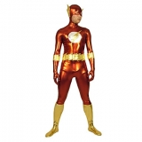 Костюмы - Зентай Red And Gold Flash Shiny Metallic Super Hero Zentai Suit