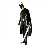 Костюмы - Зентай Black Shiny Metallic Spandex Zentai Batman cosplay for men